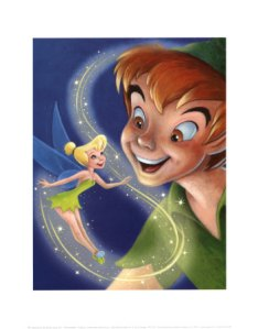 Tink and Peter Pan